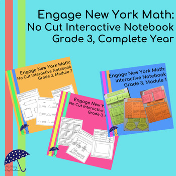 Engage New York Math Aligned No Cut Interactive Notebook: 3rd - Complete Year