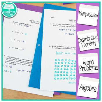 Engage New York Math Alternative Exit Ticket Worksheets: Grade 3, Module 3