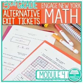 Engage New York Math Alternative Exit Ticket Worksheets: Grade 3, Module 4