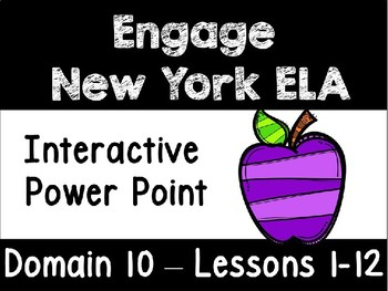 Engage New York Domain 10 Lessons 1-12 Power Point, First Grade
