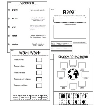 Engage New York Domain 6: Astronomy Worksheets (All Lessons)