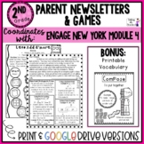 Engage NY Math Module 4 2nd Grade Parent letters & games Distance Learning