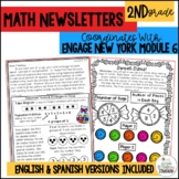 Engage NY Math 2nd Grade Module 6 parent letters, games & vocab. posters