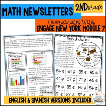 Engage New York/Eureka 2nd Grade Module 7 parent letters, games & vocab. posters