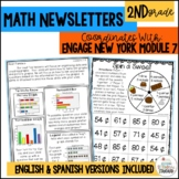 Engage NY Math 2nd Grade Module 7 parent letters, games & vocab. posters