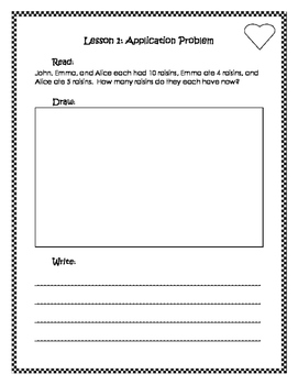 Engage New York / Eureka Application Problems First Grade Module 2