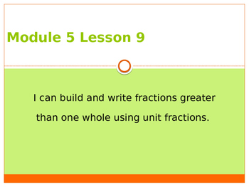 Engage New York / Eureka Grade 3 Module 5 Lesson 9 PowerPoint