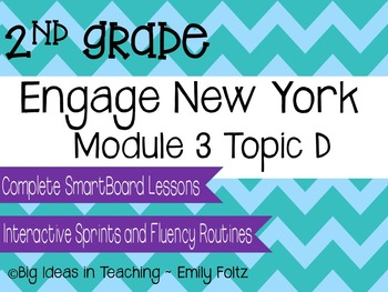 Engage New York Eureka Math 2nd Grade Module 3 Topic D Smartboard Lessons