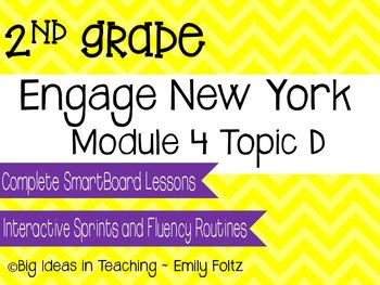 Engage New York Eureka Math 2nd Grade Module 4 Topic D Smartboard Lessons