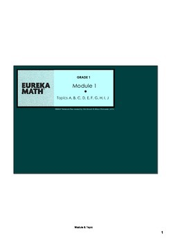 Engage New York & Eureka Math Grade 1 Module 1 BUNDLE