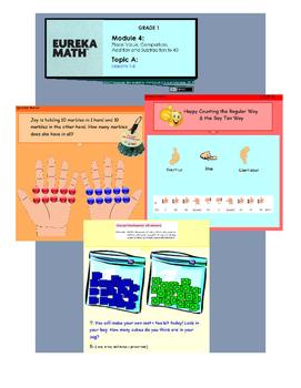Engage New York & Eureka Math Grade 1 Module 4 Topics A B C D E F