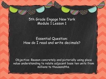 Engage New York (Eureka) Math Grade 5-Module 1 Lesson 1 POWERPOINT