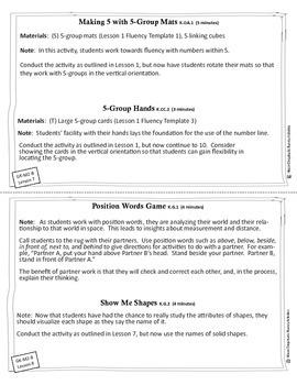 Engage New York / Eureka Math - K - Fluency Activity Cards - Module 2 B