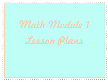 2013 Engage New York/Eureka Math Kindergarten Lesson Plans