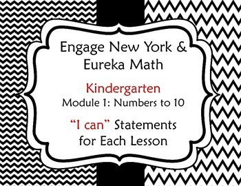 "Engage New York / Eureka Math Kindergarten Module 1 ""I can"" Statements"