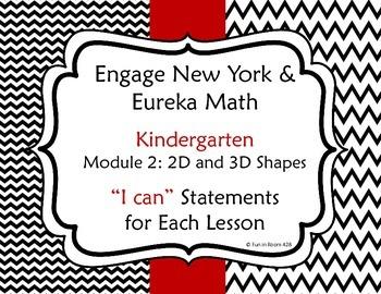 "Engage New York / Eureka Math Kindergarten Module 2 ""I can"" Statements"