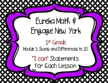 "Engage New York / Eureka Math Mod 1 ""I can"" Statements {1st grade}"