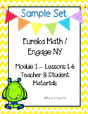 Engage New York / Eureka Math Mod 1 Lessons 1-6 Materials {Kindergarten}