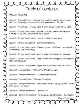 Engage New York / Eureka Math Mod 1 Teacher & Student Materials {1st grade}