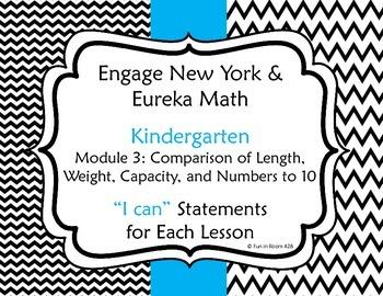 "Engage New York / Eureka Math Mod 3 ""I can"" Statements"