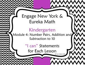 "Engage New York / Eureka Math Mod 4 ""I can"" Statements"