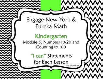 "Engage New York / Eureka Math Mod 5 ""I can"" Statements"
