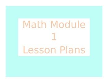 Engage New York / Eureka Math Module 1 Kindergarten Lesson Plans