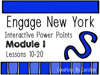 Engage New York (Eureka) Math Module 1 Lessons 11-20 Power Points, First Grade