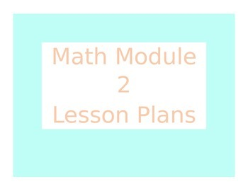 Engage New York / Eureka Math Module 2 Kindergarten Lesson Plans