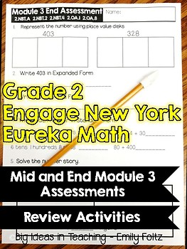 Engage New York / Eureka Math Module 3 Assessments and Review Activities