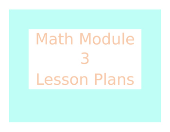 Engage New York / Eureka Math Module 3 Kindergarten Lesson Plans