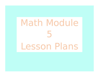 Engage New York / Eureka Math Module 5 Kindergarten Lesson Plans