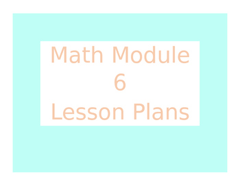 Engage New York / Eureka Math Module 6 Kindergarten Lesson Plans