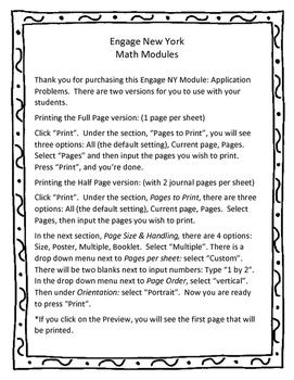 Engage New York / Eureka Math Module Print Directions