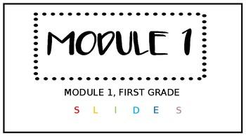 Engage New York/Eureka Math SLIDES Module 1 Lesson 3 FIRST GRADE