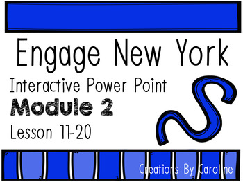 Engage New York(Eureka) Power Point Module 2 Lessons 11-20 Kindergarten