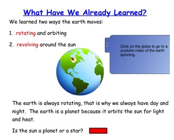 Engage NY First Grade ELA Literacy Domain 6 Astronomy Lesson 3