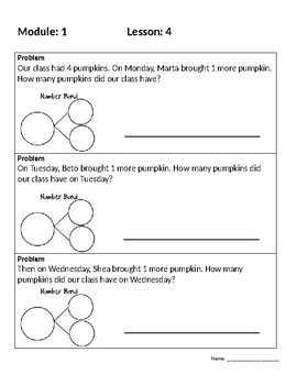 Engage New York First Grade Module 1 Application Problems