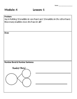 Engage New York First Grade Module 4 Application Problems
