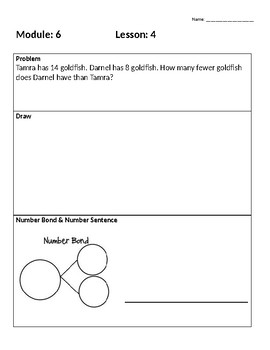 Engage New York First Grade Module 6 Application Problems