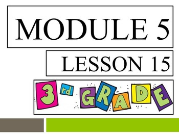 Engage New York Grade 3 Math Module 5 All 30 Lessons ENY 3rd