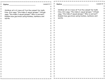 Engage New York Grade 3 Module 1 Application Problems