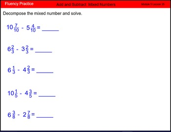 Engage New York Math Grade 4 Module 5 Lesson 35 Smart Notebook File