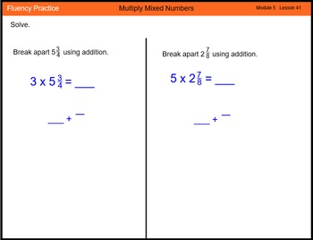 Engage New York Math Grade 4 Module 5 Lesson 41 Smart Notebook File