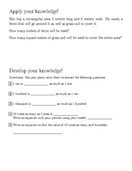 Engage New York Grade 4 Math Student Worksheet Companion for Module 1 Lesson 1