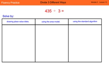 Engage New York Math Grade 4 Module 5 Lesson 13 Smart Notebook File