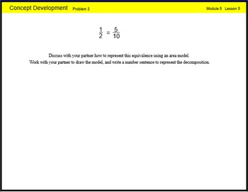 Engage New York Math Grade 4 Module 5 Lesson 5 Smart Notebook File
