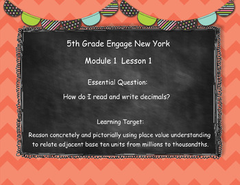 Engage New York (Eureka) Math Grade 5-Module 1 Lesson 1 SMART Notebook