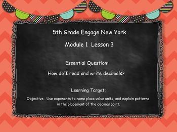 Engage New York (Eureka) Math Grade 5-Module 1 Lesson 3 SMART Notebook