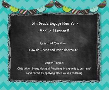Engage New York (Eureka) Grade 5-Module 1 Topic B Lessons 5-6
